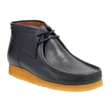 Clarks Wallabee in Petrol Blue Leather