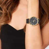 Once Upon a Time Black Vegan Leather Watch