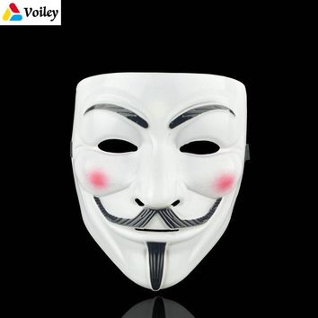 Halloween Party Mask 1Pcs/set V for Vendetta Mask Bape Full Face Mask Anonymous Guy Fawkes Fancy Dress Adult Costume Accessory,7