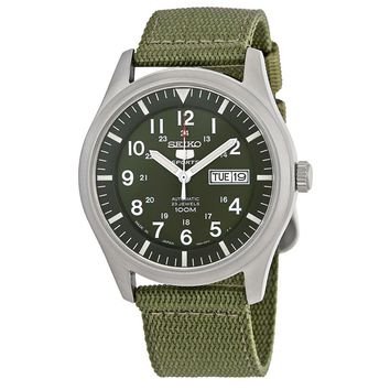Seiko 5 Green Dial Automatic Mens Watch SNZG09J1