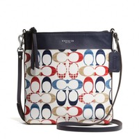 BLEECKER NORTH/SOUTH SWINGPACK IN MULTI C PRINT COATED CANVAS