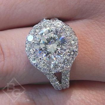 "Gabriel Amavida ""Coco"" Round Large Diamond Halo Engagement Ring"