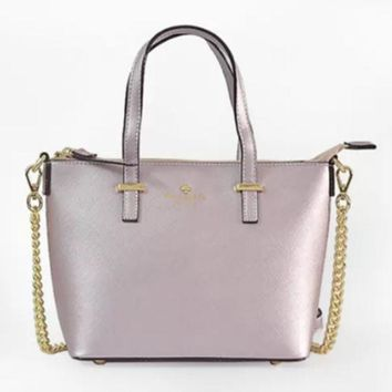 ac NOVQ2A Spade Women Shopping Leather Tote Handbag Purple