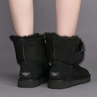 UGG Women Fur Leather Shoes Boots Winter Short Boots Shoes