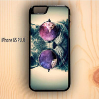 Dream colorful Smart Cats With Galaxy Nebula On Glass Eye iPhone 6S Plus Case