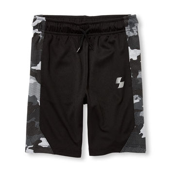Boys PLACE Sport Side Print Basketball Shorts   The Children's Place