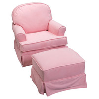 Komfy Kings, Inc 00406 Round Back Glider Pink Micro Fiber
