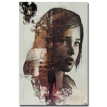 The Last of Us Silk Fabric Wall Poster Print Zombie Survival Horror Action TV Game Pitcures 12x18 20x30 24x36 inches 001