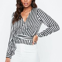 Missguided - White Multi Wrap Tie Side Blouse