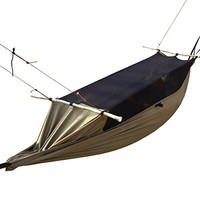 FREE SOLDIER Large Jungle Hammock with Mosquito Net for Outfitter Backpacking Camping Traveling Hanging Bed Lightweight Tactical Parachute Hammock