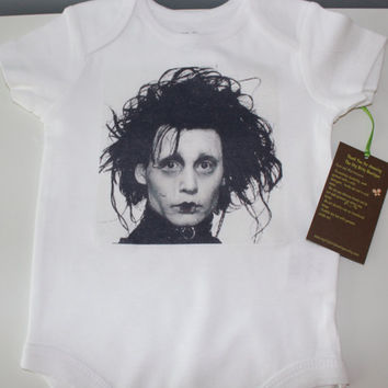Edward Scissorhands Baby Onesuit Infant Tee by myittybittyboutique