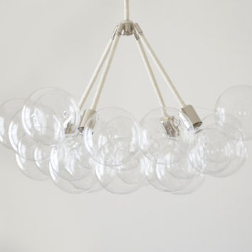 "34"" Giant Glass Bubble Chandelier - Modern & Chic Illumination"