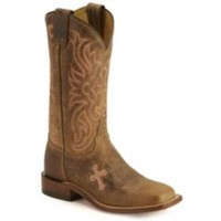 Sheplers: Tony Lama Cross Inlay Cowgirl Boots - Square Toe