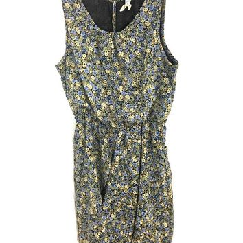 Maeve Anthropologie Dress Wildflower Foxtrot Bubble Brown Blue Pockets Womens 0 - Preowned