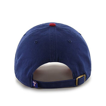 MLB Texas Rangers Clean Up Adjustable Hat, One Size, Royal