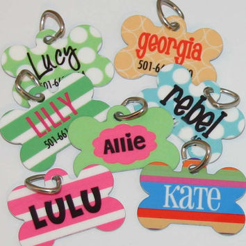 Pet Tag - Pet ID - Personalized Dog Tag - Custom Pet name tag - Choose Your Design