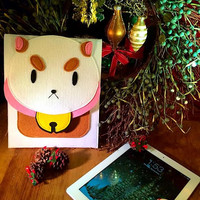 Bee and Puppycat PUPPYCAT Cotton-Lined Felt iPad Case with Button Magnet Closure