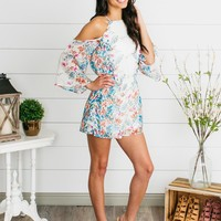 Floral Dreams Romper - White