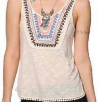 Trillium Sadie Embroidered Tank Top