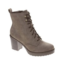 New Look Camden Brown Cleated Chunky Lace Up Heeled Boots