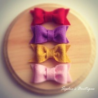 Felt Tuxedo Hair Bows - Baby Girl - Infants - Toddlers