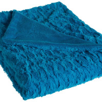 Dreamfountain Exquis Faux Fur MicroPlush Throw