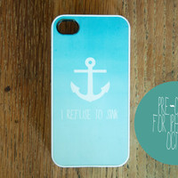 Nautical Anchor iPhone 5 Case New Quote Personalized I Refuse to Sink