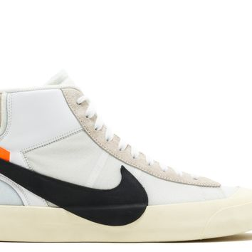 Nike THE 10 BLAZER MID OFF WHITE White Black Muslin aa3832 100