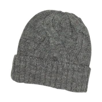 Paul Smith Designer Men's Hats Men's Cable Knit Wool & Alpaca Beanie Hat