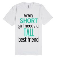Short Best Friend-Unisex White T-Shirt