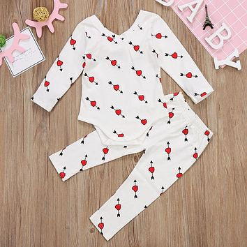 2PCS Baby Love Outfit set