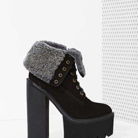 Jeffrey Campbell In Charge Platform Boot - Black Nubuck