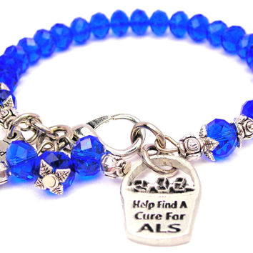 Help Find A Cure For Als Ice Bucket Splash Of Color Crystal Bracelet