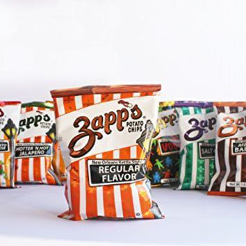 Zapps Potato Chips 1.5 Ounce 30 count Variety Sampler Pack