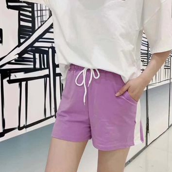 Women's Leisure  Fashion Letter Embroidery Printing Loose Short Sleeve  Shorts Two-Piece Casual Wear