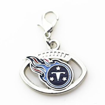 20pcs/lot Tennessee Titans Football sports dangle charms DIY bracelet/necklace lobster clasp hanging charm jewelry accessory