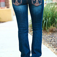 GRACE IN L.A. AUBURN CROSS BOOTCUT JEANS