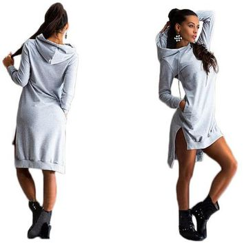 Cotton Tunic with Hood