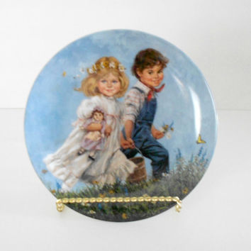 Decorative Plate Jack and Jill Mother Goose John Mclelland 1986 plate number 15968F