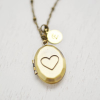 personalized heart locket,hand stamped heart locket jewelry,message locket,christmas,best friend gift,bridesmaid necklace,sisters necklace