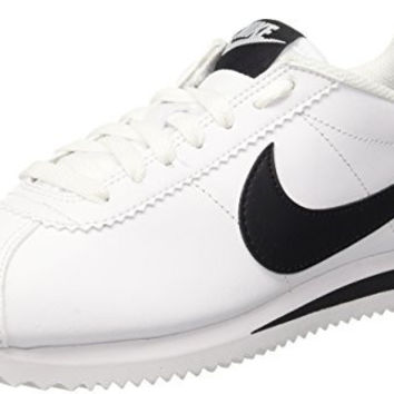 NIKE WOMENS CLASSIC CORTEZ LEATHER WHITE/BLACK/WHITE CASUAL SHOE 8 WOMEN US