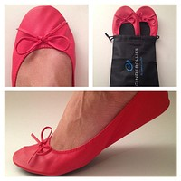 Ballet Flat in Red by Cinderollies - FINAL SALE