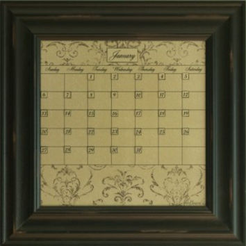 Dry Erase Calendar Board Framed Black Small Mocha Home Decoration Office Organization