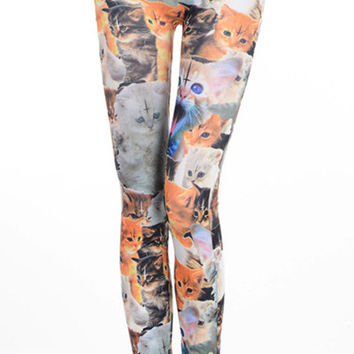 New Women's Popular Cute Cat Sexy Show Thin Leggings Skinny Tights Yoga Pants