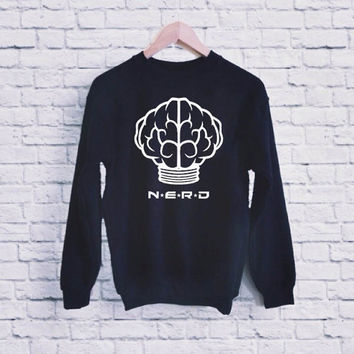 N.E.R.D UNISEX SWEATSHIRT heppy fit & sizing