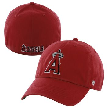 Men's Los Angeles Angels '47 Red Franchise Fitted Dad Hat