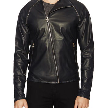 Leather Asymmetrical Jacket