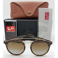 NEW Rayban Sunglasses RB4256 710T5 Tortoise Brown Polarized 4256 round AUTHENTIC