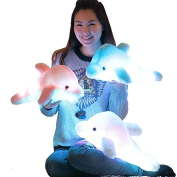 Creative Luminous LED  Plush Dolphin Pillow