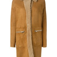 History Repeats shearling trim coat